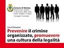 """Corso di formazione: Prevenire il crimine organizzato, promuovere una cultura della legalità """"Usura ed estorsione alla luce della crisi economica"""""""