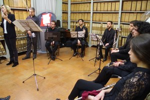 """""""Rossini e il Teatro dell'Illustrissima Comunità di Modena""""  Salotto musicale  in   Archivio"""