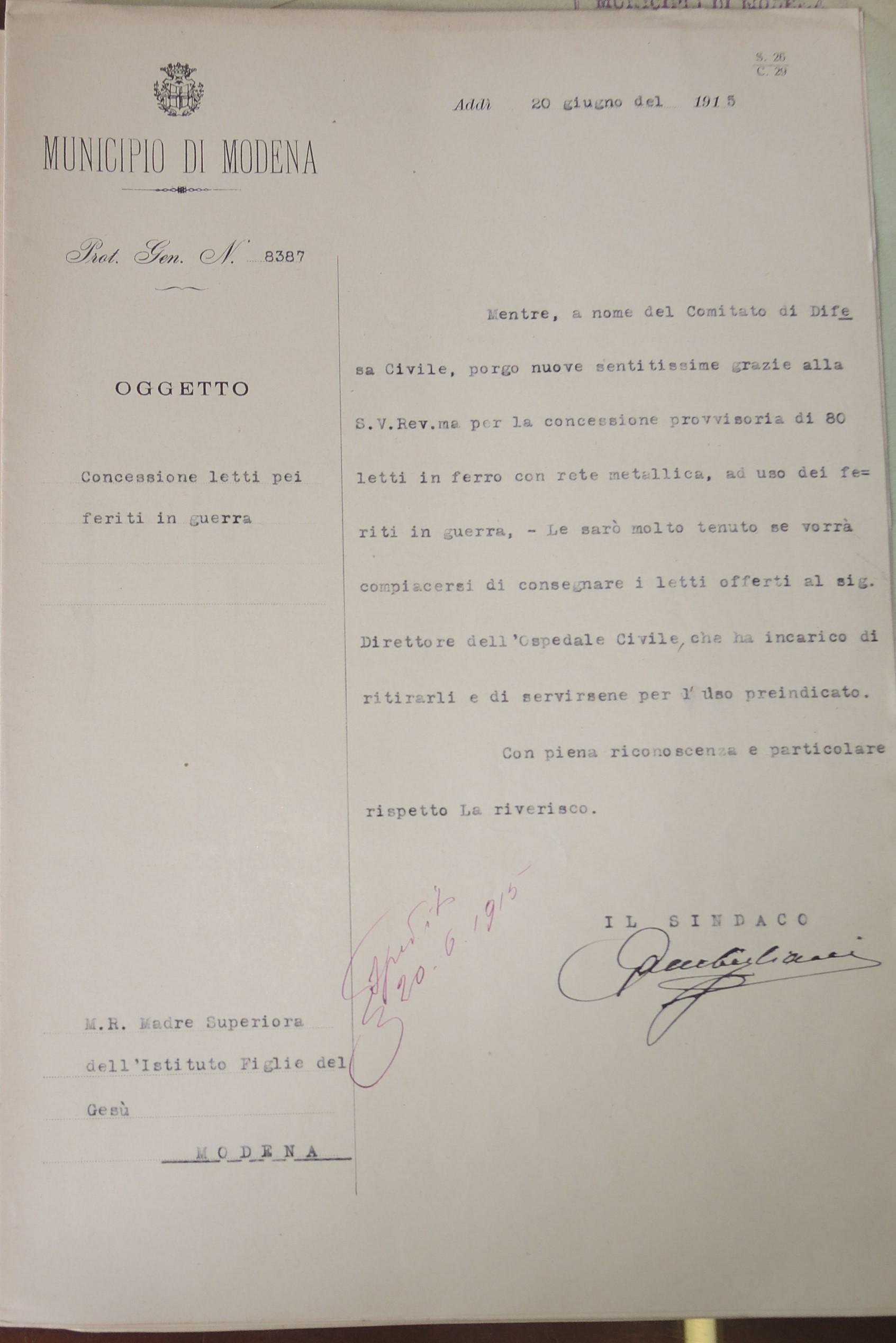Modena in trincea. L'assistenza sanitaria in città durante la Grande guerra
