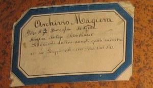 Presentazione della donazione  dell'Archivio della Famiglia Magiera