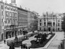 Simulazione della piazza dopo la demolizione del ghetto (Archivio Tonini della Biblioteca Poletti)