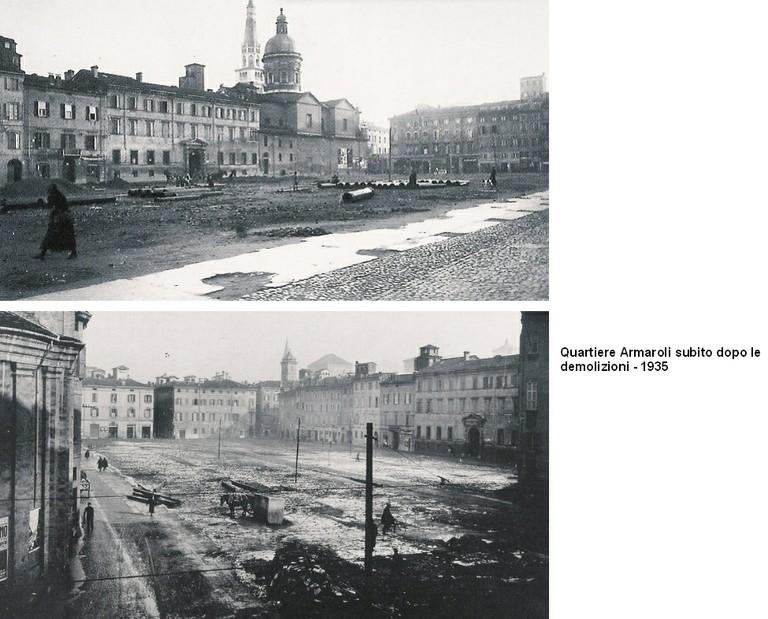 Armaroli dopo demolizioni 1935
