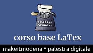 Corso in partenza LaTeX base