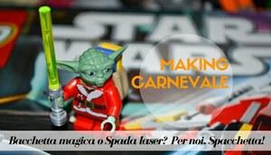 "#MakingCarnevale in palestra: bacchetta magica o spada laser? Per noi ""spacchetta""!"