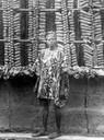 """Un uomo nigeriano eletto """"re dello yam""""  per avere ottenuto il raccolto più abbondante"""