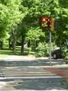 Dispositivo semaforico con conto alla rovescia in viale Amendola