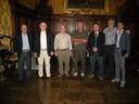 Il sindaco Pighi con la delegazione di Bella
