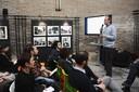 L'assessore Fabio Poggi introduce uno degli incontri di Modena digitale
