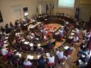 La sala del Consiglio durante l'incontro di presentazione di di Por Fesr 2014-2020