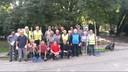 I volontari del verde e, al centro, l'assessore Giulio Guerzoni