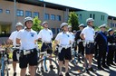 vigili in bici al Comando per la festa del Corpo della Municipale.jpg