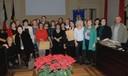 I pensionati comunali del 2014 insieme alla presidente Maletti e al sindaco Muzzarelli