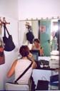 Cristina Donà in uno dei vecchi camerini del Centro Musica