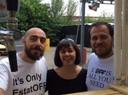 Valerio Giglioli (direttore artistico EstatOff), Francesca Garagnani (responsabile Centro musica) e Filippo Stanzani (presidente Stoff)