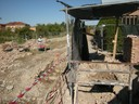 Lavori di ripristino del muro del cimitero di San Cataldo