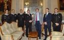 il sindaco con ufficiali dei carabinieri