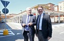 Il sindaco Muzzarelli e l'assessore Giacobazzi alla riapertura del parcheggio all'ex Moi