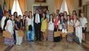 Il gruppo di universitari della Georgia con sindaco Muzzarelli e assessore Cavazza
