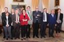 Il sindaco Muzzarelli con i nuovi Maestri del lavoro e con il console provinciale Meris Cantoni