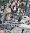 L'area dell'ex Amcm con l'edificio ex Enel