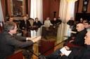 L'incontro del sindaco Muzzarelli con i parroci modenesi