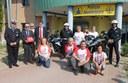 I volontari di Viva con il sindaco, il comandante e gli agenti della Municipale