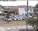 Abusivismo commerciale, il fermo immagine della telecamera di videosorveglianza prima dell'intervento della Polizia municipale