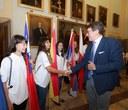 Il sindaco Muzzarelli saluta i giovani partecipanti al Campo internazionale dei Lions