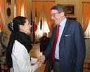 Liliana Cosi e il sindaco Gian Carlo Muzzarelli serate russe presentazione.jpg