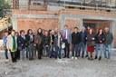 Il sindaco Muzzarelli, gli assessori Guerzoni e Guadagnini, tecnici del Comune e dell'azienda aggiudicataria e una nutrita delegazione delle associazioni delle donne