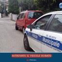Il post su Facebook che segnala il ritrovamento del veicolo rubato