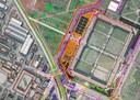 Diagonale, il disegno di progetto dell'accesso al cimitero