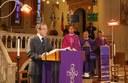 Il generale Giampaolo Pani, presidente dell''Associazione nazionale Venezia Giulia e Dalmazia, durante l'intervento in chiesa