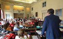 Un momento della celebrazione dei 100 anni delle Pascoli in Consiglio