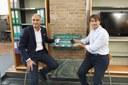 Charge box: l'assessore Giulio Guerzoni e Giorgio Golinelli, direttore servizi energetici Gruppo Hera