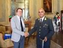 il sindaco Muzzarelli e il comandante D'Elia
