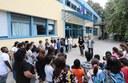Gli assessori Filippi e Cavazza, insieme alla dirigente scolastica Zetti alla scuola Cittadella per l'avvio dell'anno scolastico