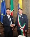 Il sindaco Gian Carlo Muzzarelli e Stefano Bolis, responsabile Direzione Emilia Adriatica di Banco Bpm