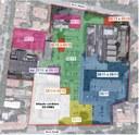 La mappa dell'area ex Amcm con le indicazioni dei divieti giorno per giorno con colori diversi