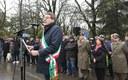 Il sindaco Gian Carlo Muzzarelli durante l'intervento