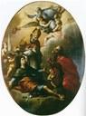 Modena, Chiesa del Voto, Francesco Stringa, Stendardo con i Santi Geminiano, Contardo e Omobono, 1699.jpg