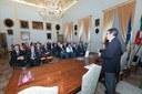 Il sindaco con i rappresentanti delle istituzioni che hanno sottoscritto il Patto
