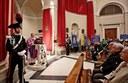 Un momento della messa celebrata dal vescovo