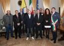 I nuovi maestri del lavoro con il sindaco Muzzarelli e il presidente del Consiglio Poggi