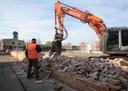 Ex Mercato Bestiame, demolizione muro
