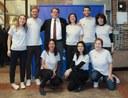 Ragazzi del Servizio civile e operatori Europe Direct con sindaco