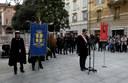 L'intervento del sindaco Gian Carlo Muzzarelli in piazza Mazzini