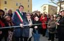 Il taglio del nastro a Villa Ombrosa con il sindaco e la presidente della Federazione Casa delle Donne Rosanna Galli