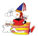 strega teodora, disegno di Nicoletta Costa per la biblioteca di pediatria al Policlinico.jpg