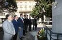 L'omaggio alla stele in onore dei Carabinieri